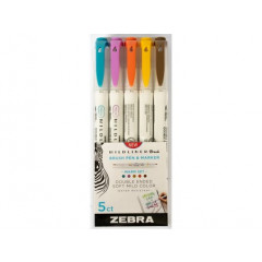 Sada Mildliner 5 Brush Warm Colors